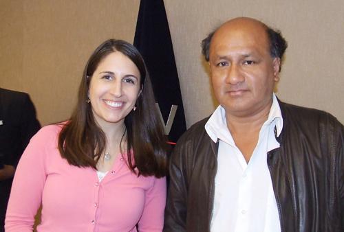 Directora de Google Inc, Lauren Miskelly con Luis Llumpo